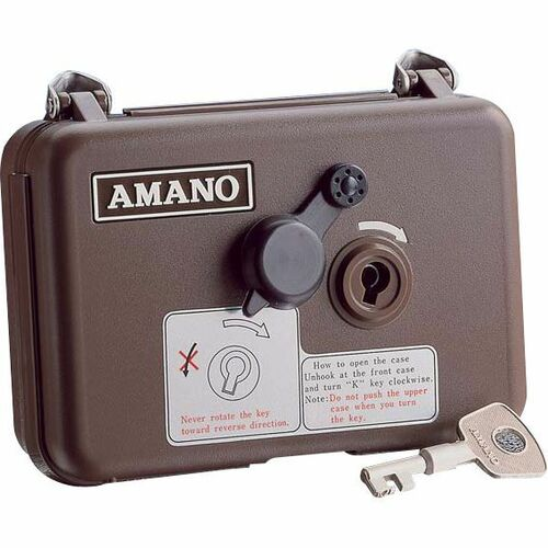Amano PR-600 Watchman's Clock Complete Package with 15 Station Keys -  Security patrol recorder