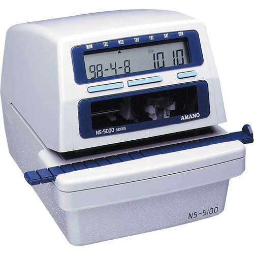Amano NS 5100 Programmable Electronic Time Date Stamp Numbering Machine AMANS51002288