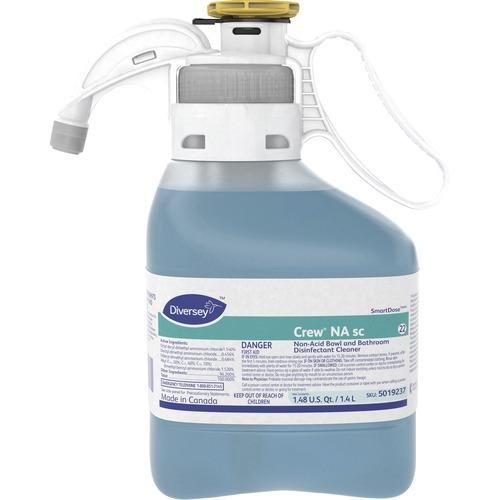 Diversey Non-acid Bowl/Bathroom Cleaner - Concentrate Liquid - 0.37 gal (47.34 fl oz) - Floral Scent - 1 Each - Blue