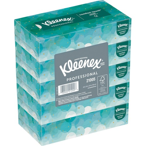 """Kleenex Facial Tissue - 2 Ply - 8.40"""" x 8.20"""" - White - Wood - Soft, Absorbent - For Office, Face - 100 Sheets Per Box - 3000 / Carton"""