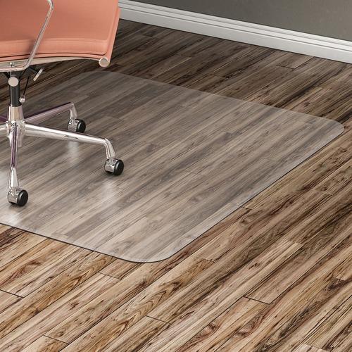 """Lorell Hard Floor Rectangular Chairmat - Tile Floor, Vinyl Floor, Hardwood Floor - 48"""" Length x 36"""" Width x 60 mil Thickness - Rectangle - Vinyl - Clear"""