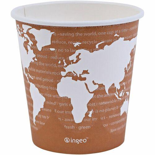 World Art Renewable Compostable Hot Cups, 10 oz., 50/PK, 20 PK/CT EPBHC10WA