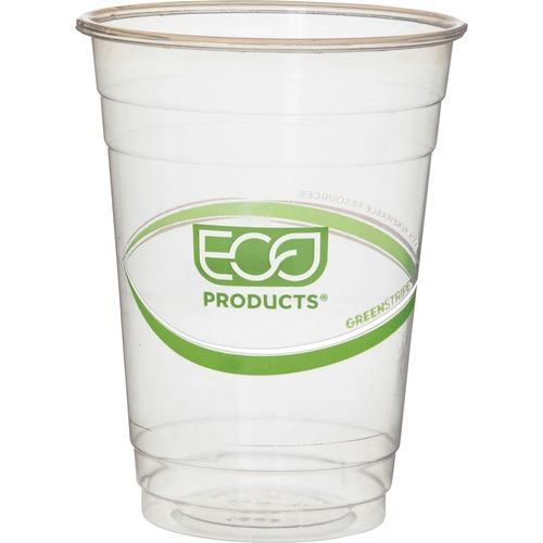GreenStripe Renewable/Compostable Cold Cups Convenience Pack, 16oz, 50/PK EPCC16GSPK