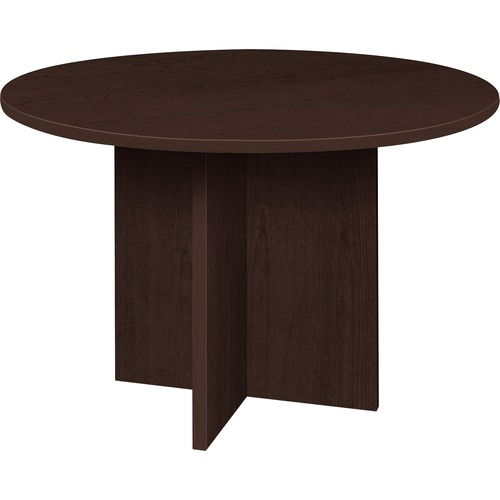 Purchase Series Espresso Round Conference Table Prominence