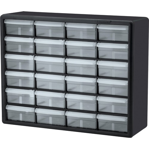 Image of Akro-Mils 24-Drawer Plastic Storage Cabinet Office Supplies AKM10124 Akro-Mils