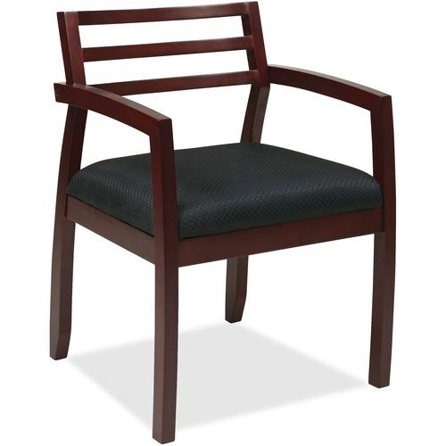 View Mahogany Guest Chair Wood Back Napa