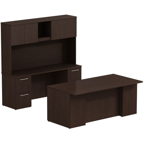 Info about Double Pedestal Desk Credenza Hutch W Product picture - 148