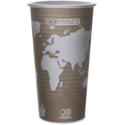 World Art Renewable & Compostable Hot Cups Convenience Pack - 20 oz., 50/PK EPBHC20WAPK