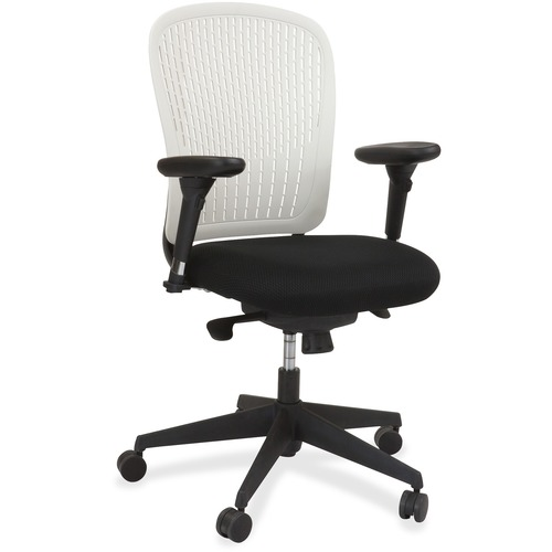 Wonderful Arms Black Fabric Task Chair Adjustable