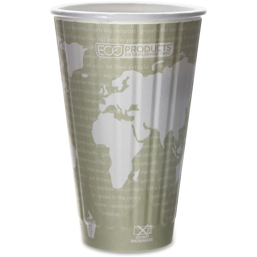 World Art Renewable & Compostable Insulated Hot Cups - 16oz., 40/PK, 15 PK/CT EPBNHC16WD