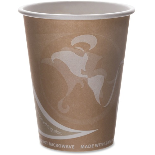 Evolution World 24% Recycled Content Hot Cups Convenience Pack - 8oz., 50/PK EPBRHC8EWPK