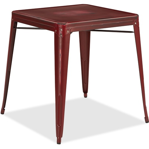 Select Antique Metal Table Antique Red Kd Bristow