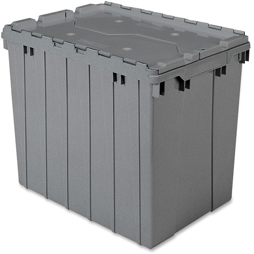 Image of Akro-Mils Attached Lid Storage Container Office supply AKM39170GREY Akro-Mils