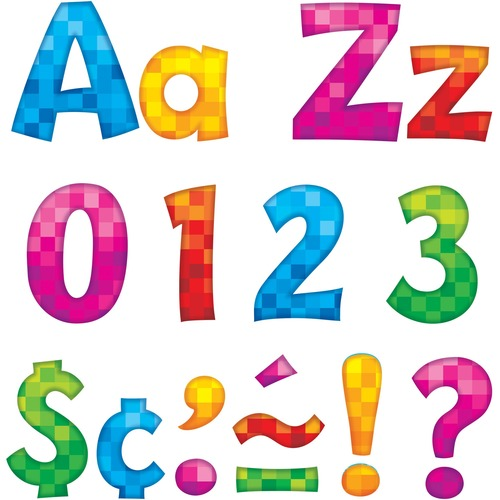 """Trend 4"""" Playful Ready Letters Combo Pack 79759"""