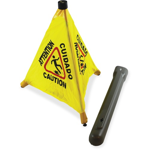 "Impact Products 31"" Pop Up Safety Cone - 24 / Carton - 31"" Height - Cone Shape - Plastic - Yellow, Black"