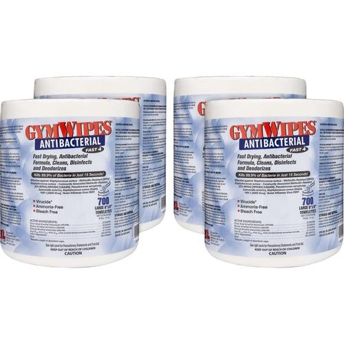 User friendly Antibacterial Towelettes Bucket Refill Gymwipes