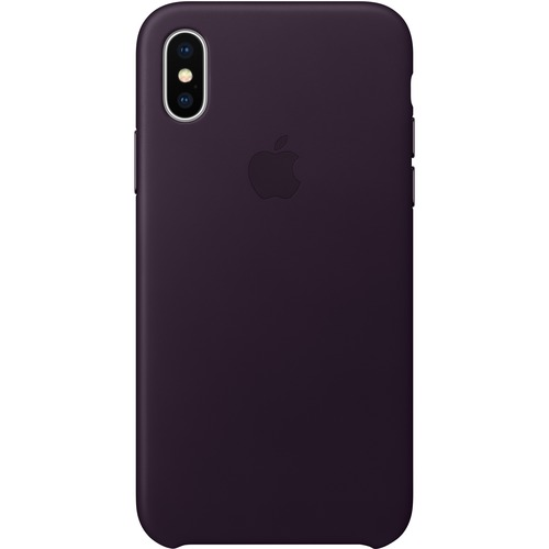 first rate 9fdeb 7de66 Apple Case for iPhone X - Dark Aubergine - Silky - Knock Resistant, Bump  Resistant, Scratch Resistant, Shock Resistant - Leather, MicroFiber