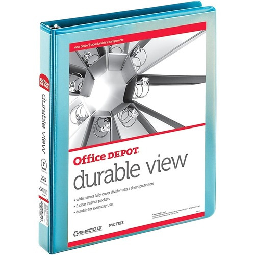 Office Depot Durable View Round-Ring Binder, 1in Rings, 30