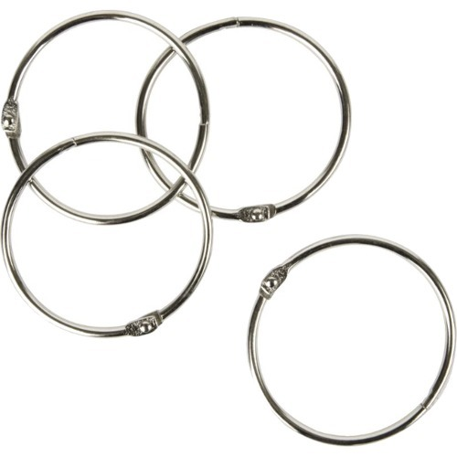 """Office Depot® Brand Binder Rings, 2"""", Silver, Pack Of 25"""