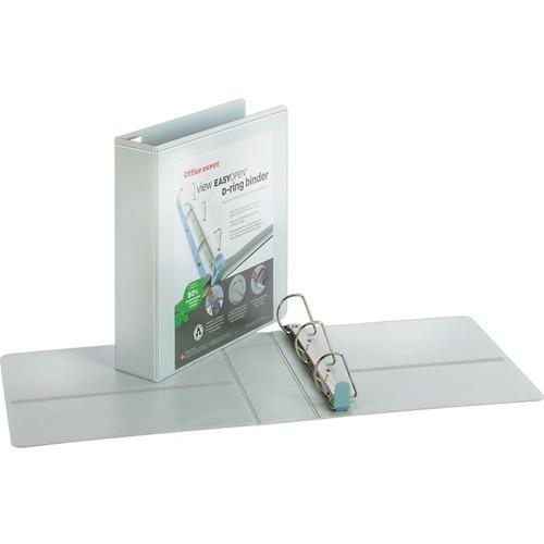 Office Depot® Brand EasyOpen® ClearVue™ Locking Slant-D
