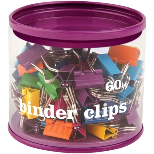 Office Depot Fashion Binder Clips, 1/2in, Assorted Colors