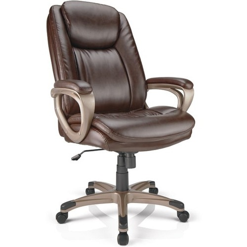Reale Tresswell Bonded Leather Executive High Back Chair Brown Champagne