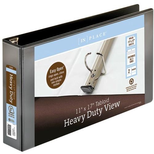 Office Depot [IN]PLACE Heavy-Duty View Binder, 3in Rings