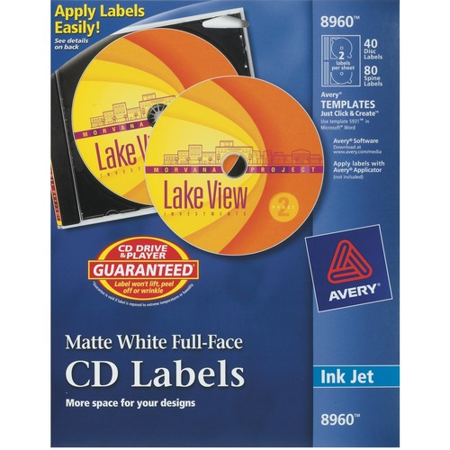 Image 8960 gnutdowygirqhc Avery Full Face CD Labels Business/Services USA Deal Office Avery