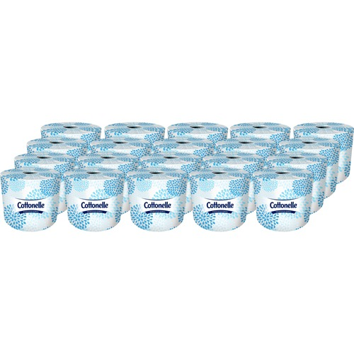 "Kleenex Cottonelle Premium Bath Tissue Rolls - 2 Ply - 4"" x 4"" - 451 Sheets/Roll - White - Soft - For Washroom - 20 / Carton"