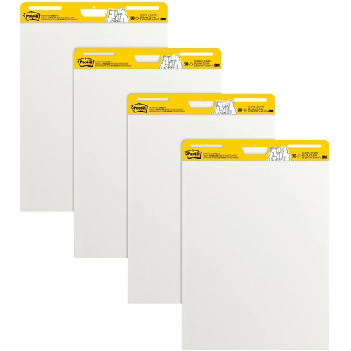 It Self Stick Easel Pads Value Pack In White Post Product image - 1