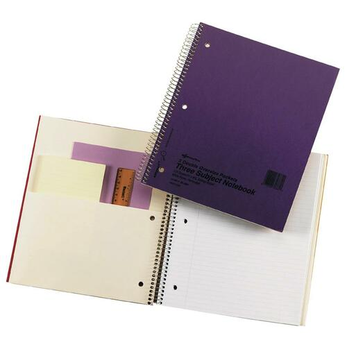 Rediform National Pressguard 3 Subject Notebook