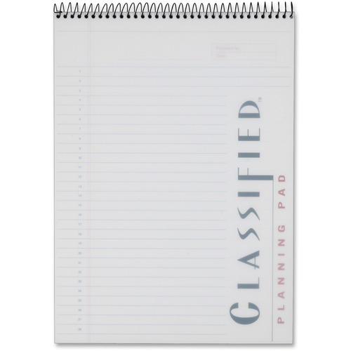 TOPS Classified Docket Gold Planning Pad