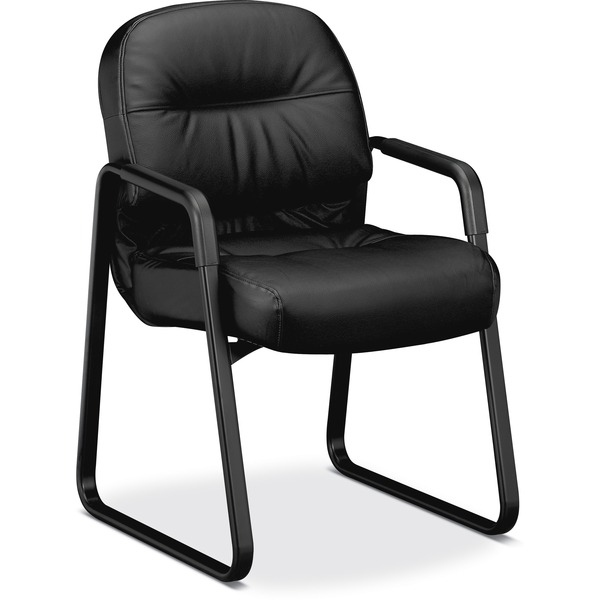 The HON Company Pillow-Soft Guest Chair, Leather