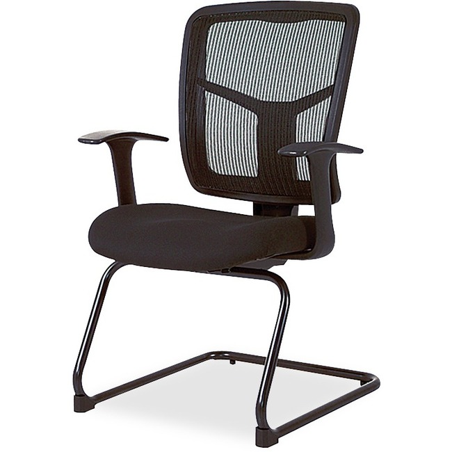 lorell ergomesh series mesh side arm guest chair direct office buys