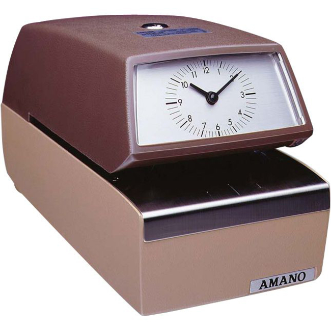 Amano 4846 3706 Automatic Time Date Stamp Direct Office Buys