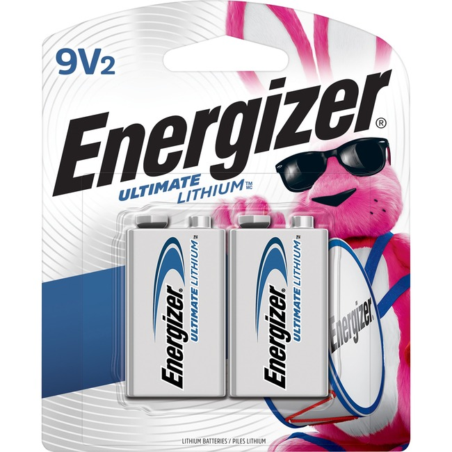 Energizer Ultimate Lithium 9V Batteries, 2 Pack EVEL522BP2