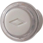 NuTone Unlighted Round Pushbutton, 13/16 Diameter in Clear/White