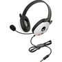 Califone Stereo Headset, Panda w/ Mic 3.5mm Plug Via Ergoguys