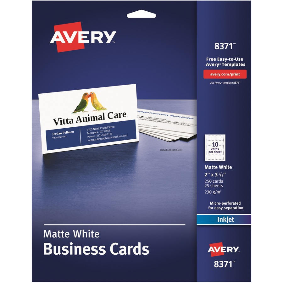 Avery 8371 avery inkjet business card ave8371 ave 8371 office avery business card ave8371 reheart Gallery