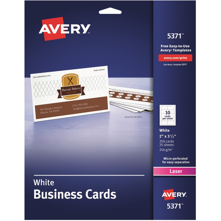 Avery 5371 Avery Business Card Ave5371 Ave 5371 Office Supply Hut