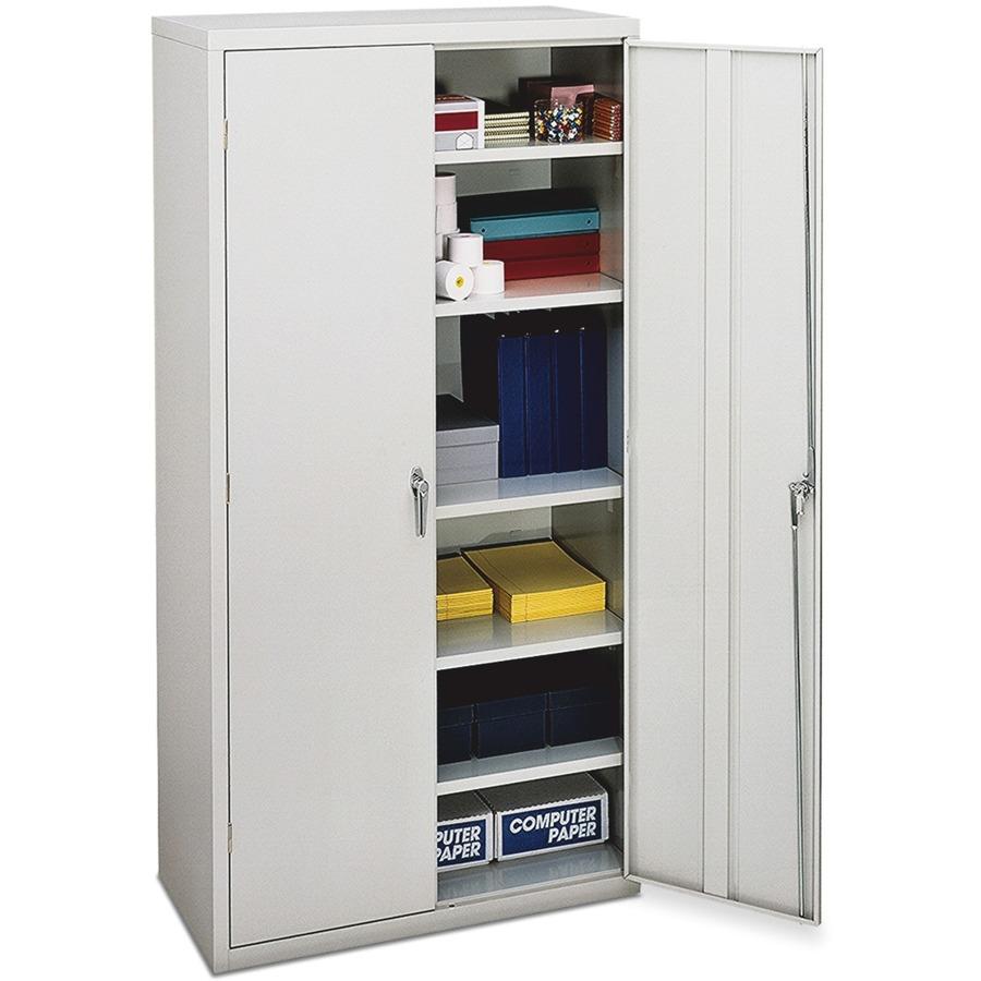 Hon Brigade 5 Shelf Storage Cabinet 36 X 18 3 71 Ves 2 Door S 250 Lb Load Capacity Security Lock Leveling Glide