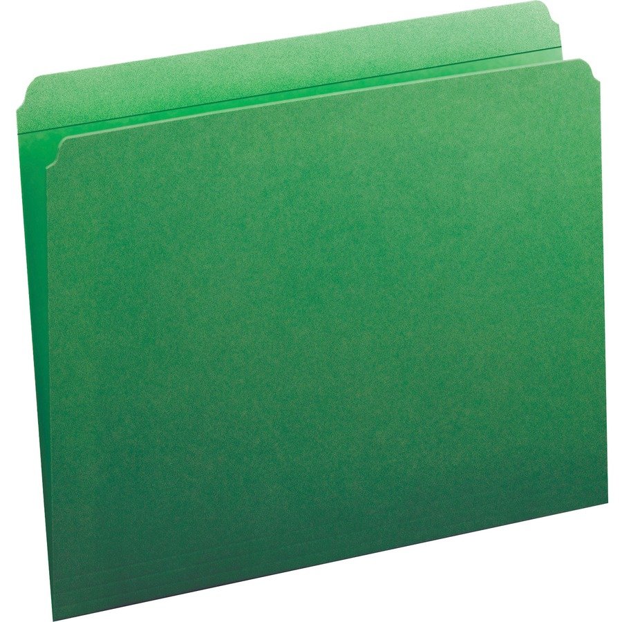 smead 12110 green colored file folders with reinforced tab
