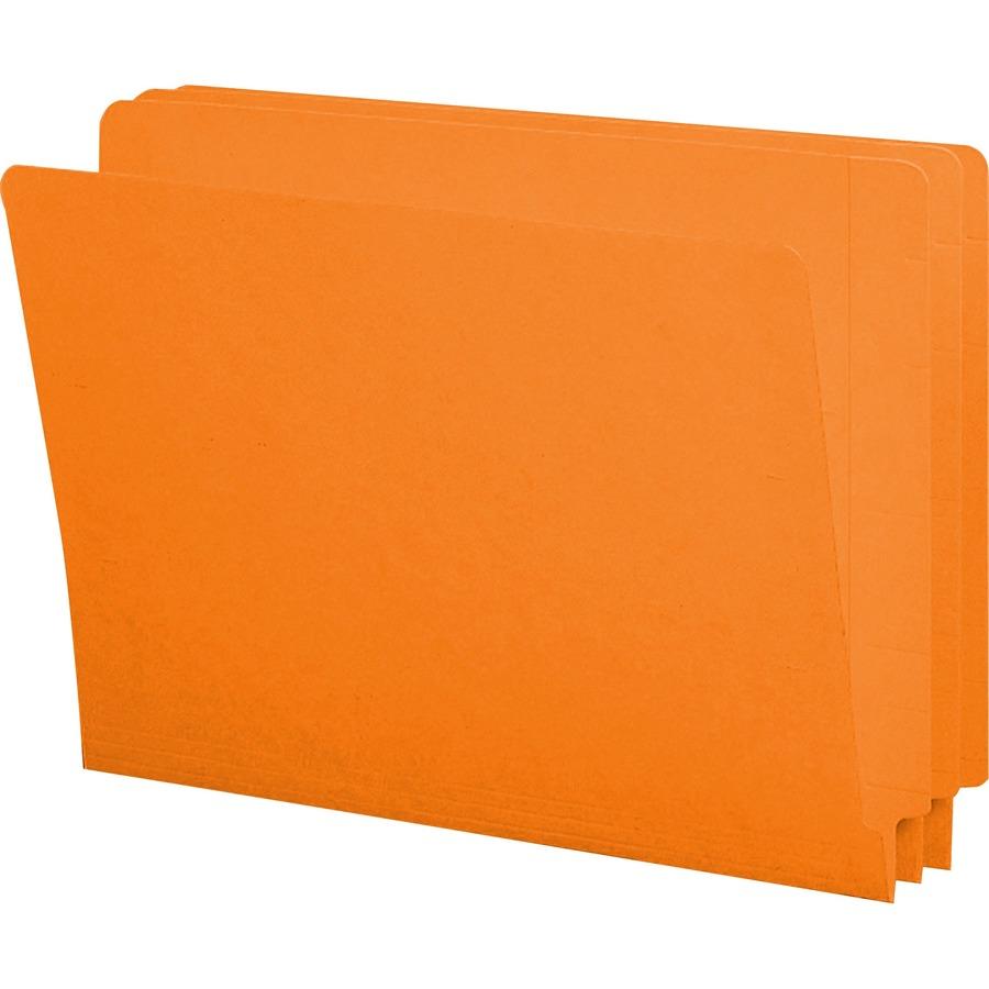 Smead 25510 Orange End Tab Colored File Folders With