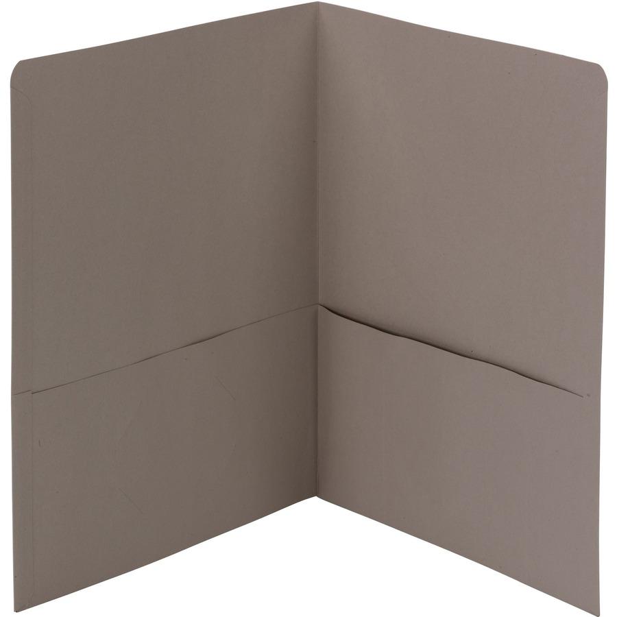 Oxford Contour Two-Pocket Recycled Paper Folder 100-Sheet Capacity Orange