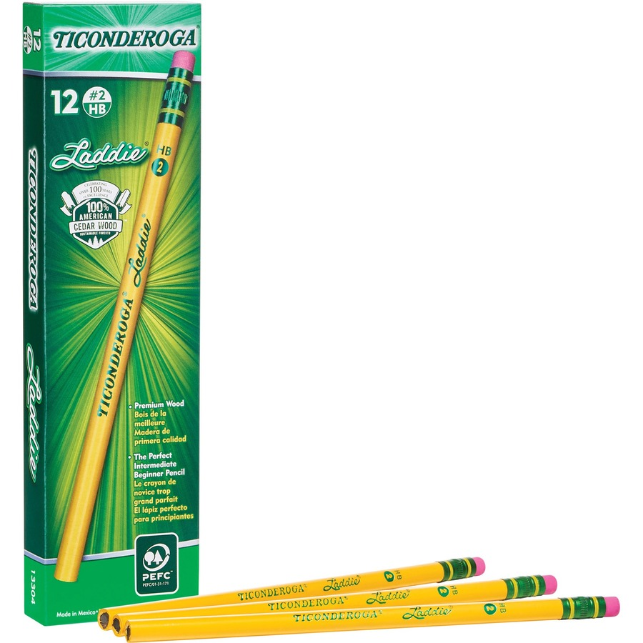 Ticonderoga Lad Pencil With Eraser Dix13304