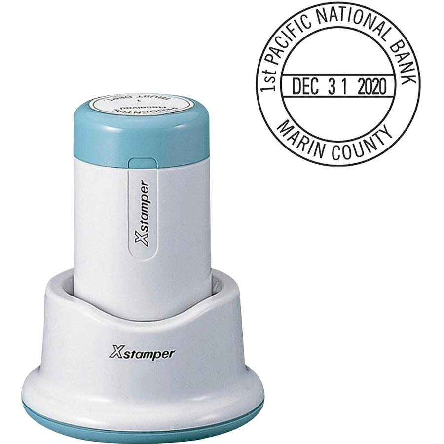 Xstamper Small 4 Line Custom Round Dater Date Stamp