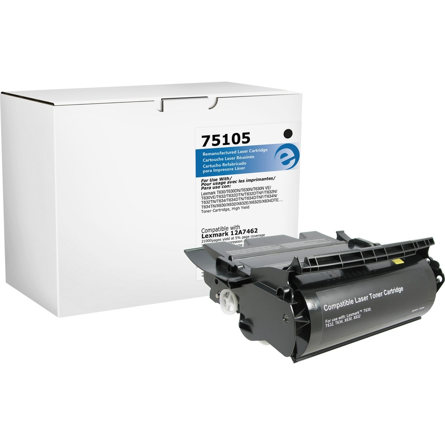 New Compatible TONER Cartridge for LEXMARK T630 T632 T634 12A7462