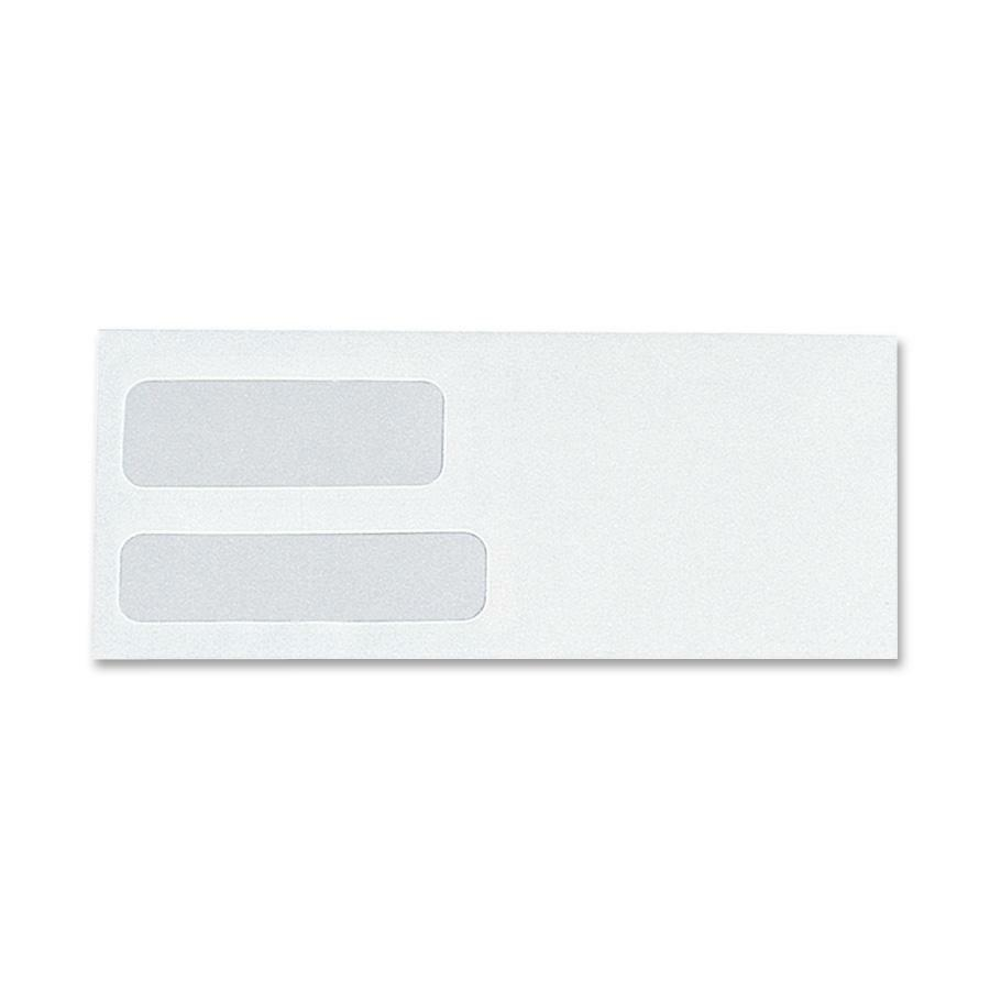 Sparco double window white wove envelopes for Window envelopes