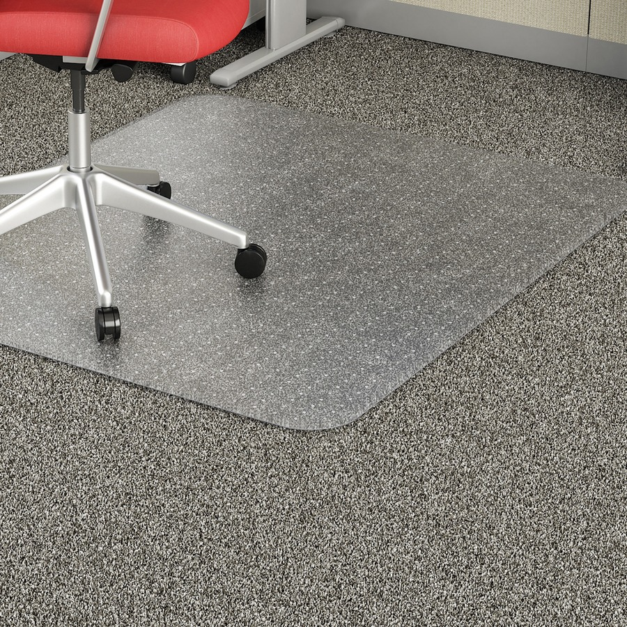 Lorell Rectangular Low Pile Economy Chairmat Carpeted