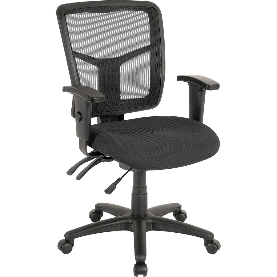 Managerial Mid Back Chair Features A Mesh Back And Mesh Fabric Seat;  Ergonomically Designed ...